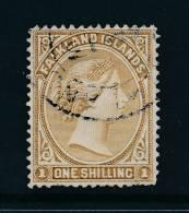 FALKLAND ISLANDS, 1891 1/-grey-brown (2 Short Perfs), SG55, Cat £37 (E) - Falklandeilanden