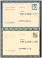 2 Entiers Postaux Neufs HAMBURG - Postkarten - Ungebraucht