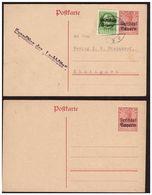 2 Entiers Postaux BAYERN 1 Neuf Et 1 OBl. Expedition Der LAUBHUTTE Du 9.12.19. - Deutschland