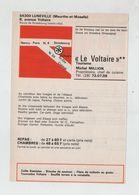 Publicité 1976  Le Voltaire Lunéville - Publicidad