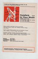 Publicité 1976 Autun Hostellerie Du Vieux Moulin Tarel écrevisses - Publicités