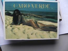 Africa Cabo Verde With Nice Lady - Kaapverdische Eilanden