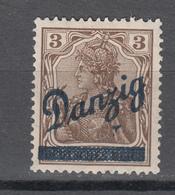 Danzig 1920,Mi 34 Kleiner Innendienst Mit Klischeenagel Unter Dan(Z)ig,postfrisch Mit Falz D2630 - Danzig