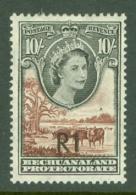 Bechuanaland: 1961   QE II - Pictorial - Surcharge    SG167b   1R On 10/-  [Type II - Central]      MH - 1885-1964 Herrschaft Von Bechuanaland