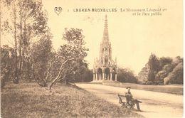 Bruxelles - CPA - Le Monument Léopold 1er Et Le Parc Public - Laeken