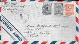 ANTIGUA G. SAN ANTONIO SACATEPEQUEZ GUATEMALA ENVELOPPE CIRCULLE A HAZARD U.S.A. YEAR 1947 TRES BON ETAT - Guatemala