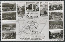 """ALLEMAGNE...SOLINGEN..."""" CHAMPIONNAT DU MONDE DE  CYCLISME...CARTE GEOGRAPHIQUE"""" ... C2560 - Solingen"""