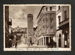 BERGAMO - Torre Delle POSTE / Via Locatelli ( Spedita 1939 ) ANIMATA - Bergamo