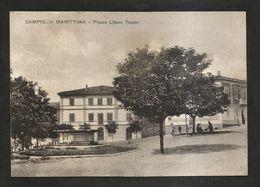 CAMPIGLIA MARITTIMA ( LI ) - Piazza LIBERO TURCHI ( Spedita 1940 ? ) ANIMATA - Livorno