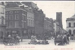 Ath L'hotel De Ville Et La Rue Aux Gades - Ath