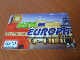 B&M New Europa - Eifel Tower -Big Ben London  5 €   - Little Printed   -   Used Condition - Deutschland