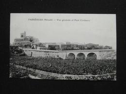CPA FABREGUES VUE GENERALE ET PONT COULAZOU (34 HERAULT)  ANIMEE EGLISE MAISON CHAMP - Autres Communes