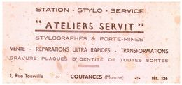 Pa  St/ Buvard Station Stylo Service (Format 21 X 10) (N= 1) - Stationeries (flat Articles)