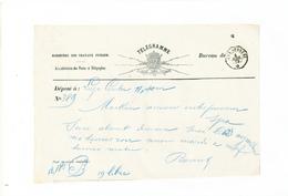 155/26 - Formule De Télégramme - Cachet Télégraphique SPA Poste 1879 - Télégraphes