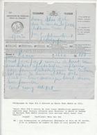 156/26 - Formule De Télégramme Du Pape PIie X à ROME Vers Le Baron Wahis Chez Comte Le Grelle à GROBBENDONCK 1914 - Télégraphes