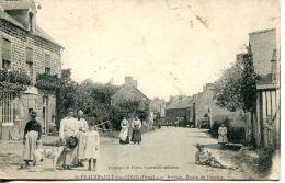 N°4227 A -cpa St Fraimbault Sur Pisse -arrivée , Route De Passais- - France