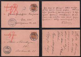 ALLEMAGNE - EMPIRE - BERLIN / 1909-11 - PNEUMATIQUES 2 ENTIERS POSTAUX - ROHRPOST (ref 6428) - Deutschland