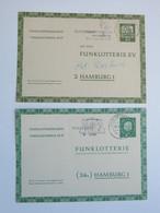 Neumünster , 2 Stempel Auf 2 Funklotteriekarten1962 - BRD