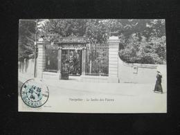 CPA MONTPELLIER LE JARDIN DES PLANTES (34 HERAULT)  ANIMEE JEUNE FILLE UNIVERSITE DE MONTPELLIER FONDEE HENRI IV - Montpellier