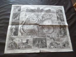 Grande Gravure Estampe  En Cuve Originale  Le Temple De Salamon 19ème Jérusalem 38 X 45 Cm - Stampe & Incisioni