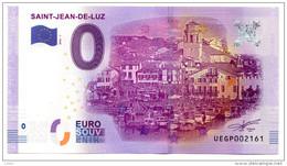 2016-1 BILLET TOURISTIQUE 0 EURO SOUVENIR N° 007929 SAINT JEAN DE LUZ - EURO
