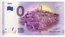 2017-1 BILLET TOURISTIQUE ESPAGNE 0 EURO N°VENL004607 IBIZA - EURO