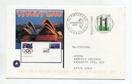 SPORTS FDC COVER BRD 2000 OLYMPISCHE SOMMERSPIELE SYDNEY SPORTHILFE - Zomer 2000: Sydney