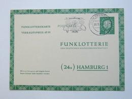 Neumünster , Klarer  Stempel Auf  Funklotteriekarte 1962 - BRD