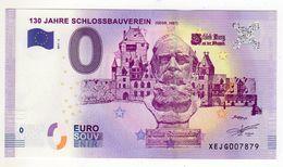 2017-6 BILLET TOURISTIQUE ALLEMAND 0 EURO SOUVENIR N°XEJG007869 130JAHRE SCHLOSSBAUVEREIN - EURO
