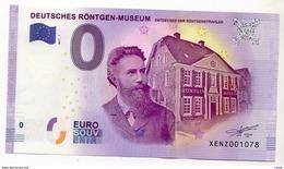 2017-1 BILLET TOURISTIQUE ALLEMAND 0 EURO SOUVENIR N°XENZ001069 DEUTSCHES RONTGEN MUSEUM - EURO