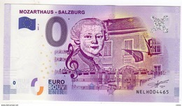 2017-2 BILLET TOURISTIQUE AUTRICHE 0 EURO SOUVENIR N°NELH004460 MOZARTHAUS SALZBURG - EURO
