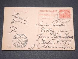 EGYPTE - Entier Postal De Ismalia Pour Berlin En 1910 Via Port Saïd - L 13828 - 1915-1921 Protectorat Britannique