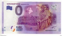 2016-1 BILLET TOURISTIQUE 0 EURO SOUVENIR N°UEEG002428 VERCINGETORIX - EURO
