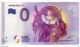 2016-1 BILLET TOURISTIQUE 0 EURO SOUVENIR N°UEAV009577 NAPOLEON 1er - EURO