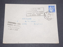FRANCE - Enveloppe 1 Er Vol  Paris / Alger Dans La Journée En 1935 - L 13835 - Correo Aéreo