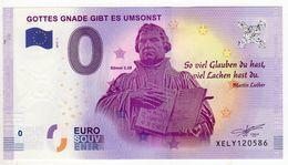 2017-1B BILLET TOURISTIQUE ALLEMAGNE 0 EURO SOUVENIR N°XELY120589 GOTTES CNADE - EURO