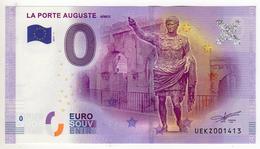 2017-1 BILLET TOURISTIQUE  0 EURO SOUVENIR N° UEKZ001412 LA PORTE AUGUSTE NIMES - EURO