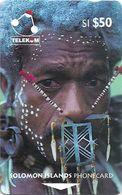 Solomon - SOL-08A Man From Santa Cruz Island 50$ 02SIE (B), Used - Solomon Islands