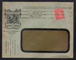 SYNDICAT DU PATRONAT FRANCAIS - PARIS / 1928 OB. KRAG SUR LETTRE POUR PARIS (ref LE2093) - France