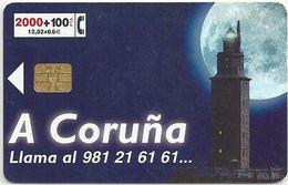 Spain - Telefonica - A Coruña - CP-162 - 07.1999, 12.000ex, Used - España