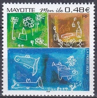 Mayotte 2005 Gesellschaft Heimat Native Home Zeichnungen Drawing Schüler, Mi. 178 ** - Mayotte (1892-2011)