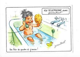 AU TELEPHONE Avec Germaine BOURET - Un Brin De Poudre Et J'arrive ! - L 1 - Bouret, Germaine
