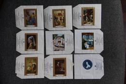 Lot De 9 étiquettes - CHOCOLAT RADEMAKER - DEN HAAG HOLLAND - Série De Peintres Flamands. - Etiquettes