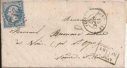 Marque Postale - VIRE (Saône-et-Loire) - Adressée De STRASBOURG (Bas-Rhin) - Le 17 Septembre 1867 - Postmark Collection (Covers)