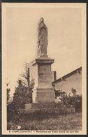 Carte Postale Ancienne Vierge De Ligné, Monument De Notre - Dame - De- Lourdes, MINT VINTAGE POSTCARD OF LIGNE, LOIRE-AT - Ligné