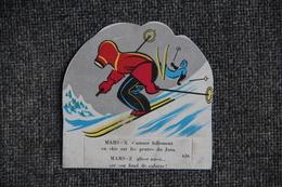 """Petit Carton Publicitaire """" La Vache Sérieuse"""" : MARS X Et MARS Z Sur Les Pentes Du JURA. - Advertising"""