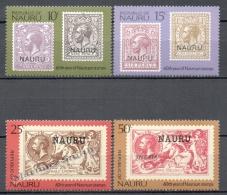 Nauru 1976 Yvert 135-38, 60th Ann. Stamps Of Nauru - MNH - Nauru