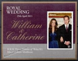 Nauru 2011 Yvert BF-41, Royal Wedding, Prince William & Catherine Middleton - Miniature Sheet - MNH - Nauru