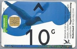 NL.- Telefoonkaart. PTT TELECOM. 10 Gulden. Vogelbescherming Nederland. De Aarde Onze Waterbron. - Vogels