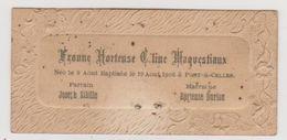 754 - FAIRE PART NAISSANCE BAPTEME DU 9 AOUT 1906 A PONT A CELLES .DECORS GAUFFRES - Naissance & Baptême